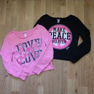 Justice brand sweatshirt size 10